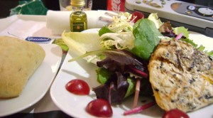 Red Chicorie Salad with Marinated Herb Chicken Breast