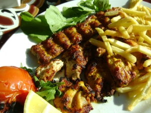 Chicken Kabobs (Persian style) at Hatan