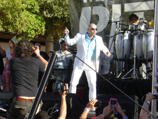 Pitbull on stage