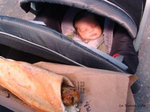 Boy and baguett