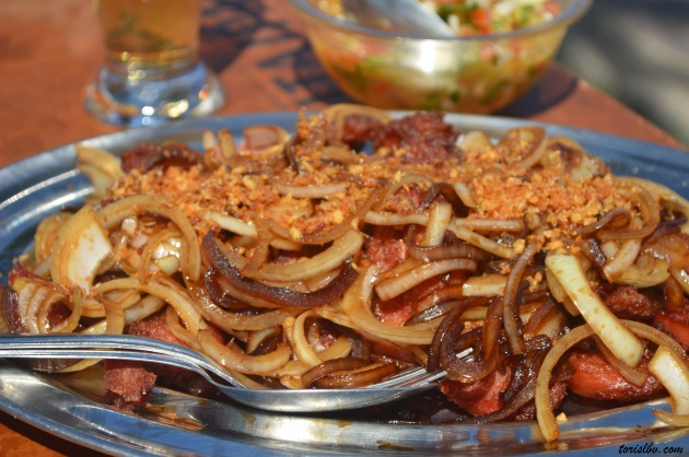 pork and onions