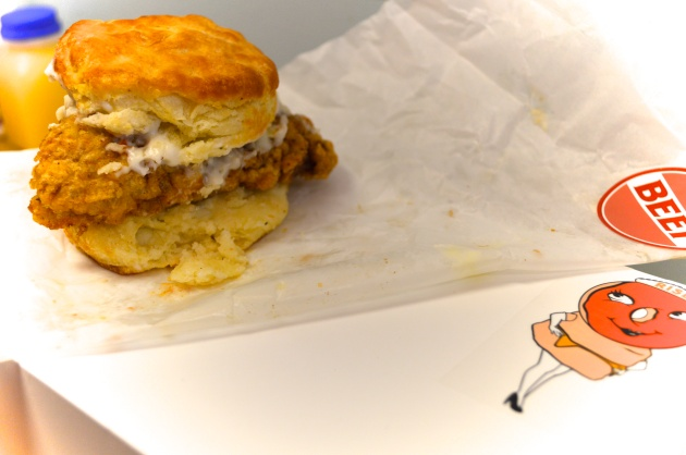 Chicken Fried Steak Biscuit