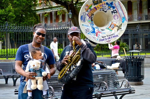 Devin and I taking in some New Orleans soul in Jackson Square. New Orleans, LA (May 2013)