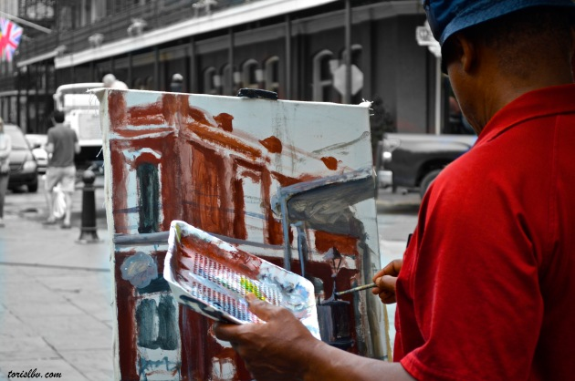 Jackson Square artist lbv
