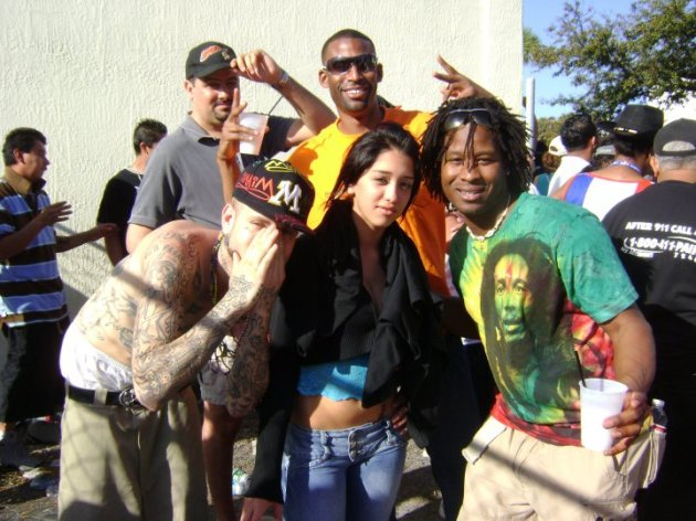 Partying with Ian and some shady strangers at Calle Ocho Celebration in Little Havana. Miami, Florida (March 2010)