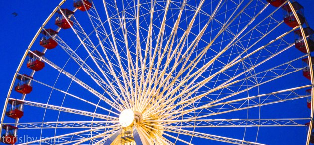 The ferris wheel at the Navy Pier