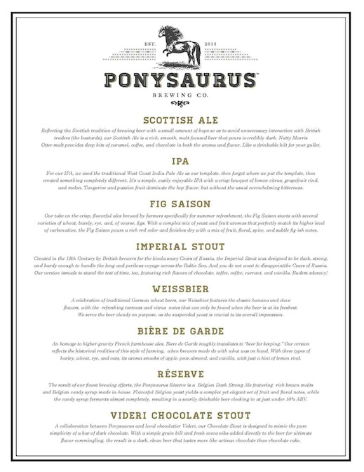 Ponysaurus Lineup