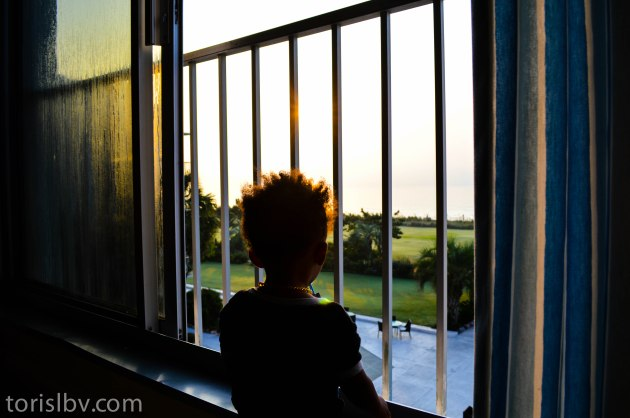 Devin watching the sunrise over the Atlantic Ocean at the Blockade Runner Resort (September/Wilmington, NC)