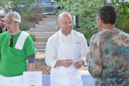 Chef Charlie Deal chatting about Pop Rocks