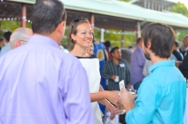 SEEDS Executive Director Emily Egge greeting attendees
