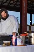 Chef Matt Kelly of Mateo preparing Fideua with North Carolina Shrimp and Aioli