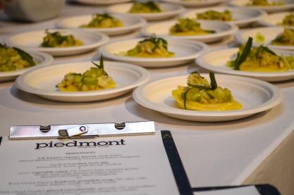 Butternut Squash Ravioli with Compressed Apple, NC Crab and Tarragon - Piedmont Restaurant
